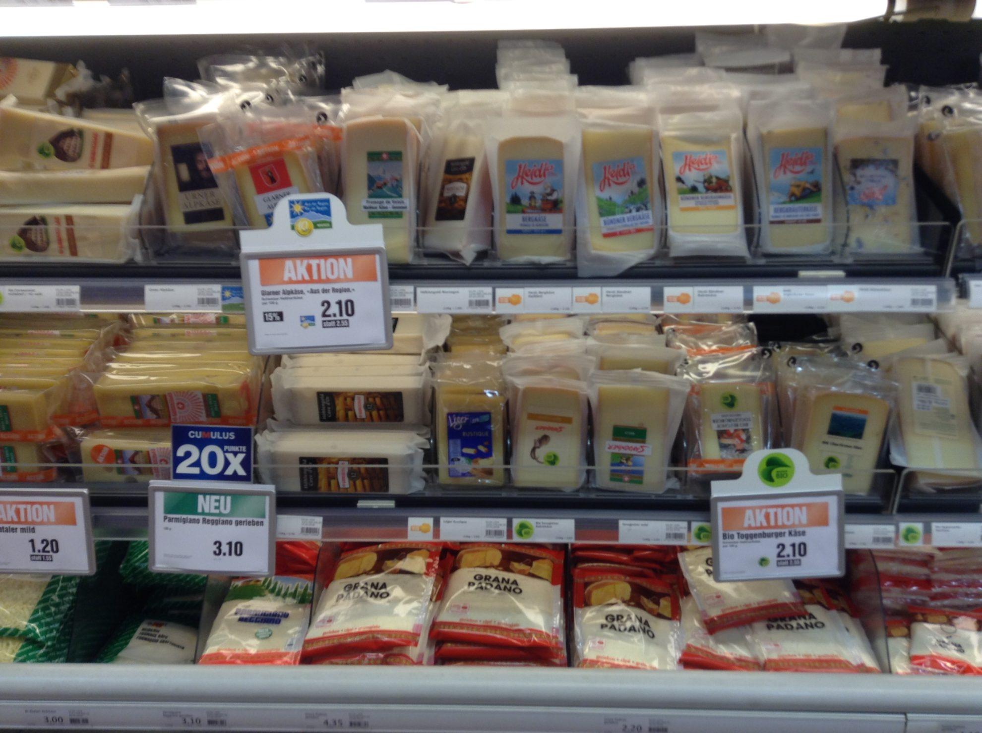 A zürichi sajtkínálat egészen apró szelete