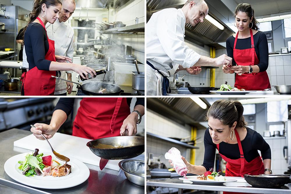 Korinna a Mezzo konyháján ... séffel készül a megmérettetésre (Fotó: Kaunitz Tamás)
