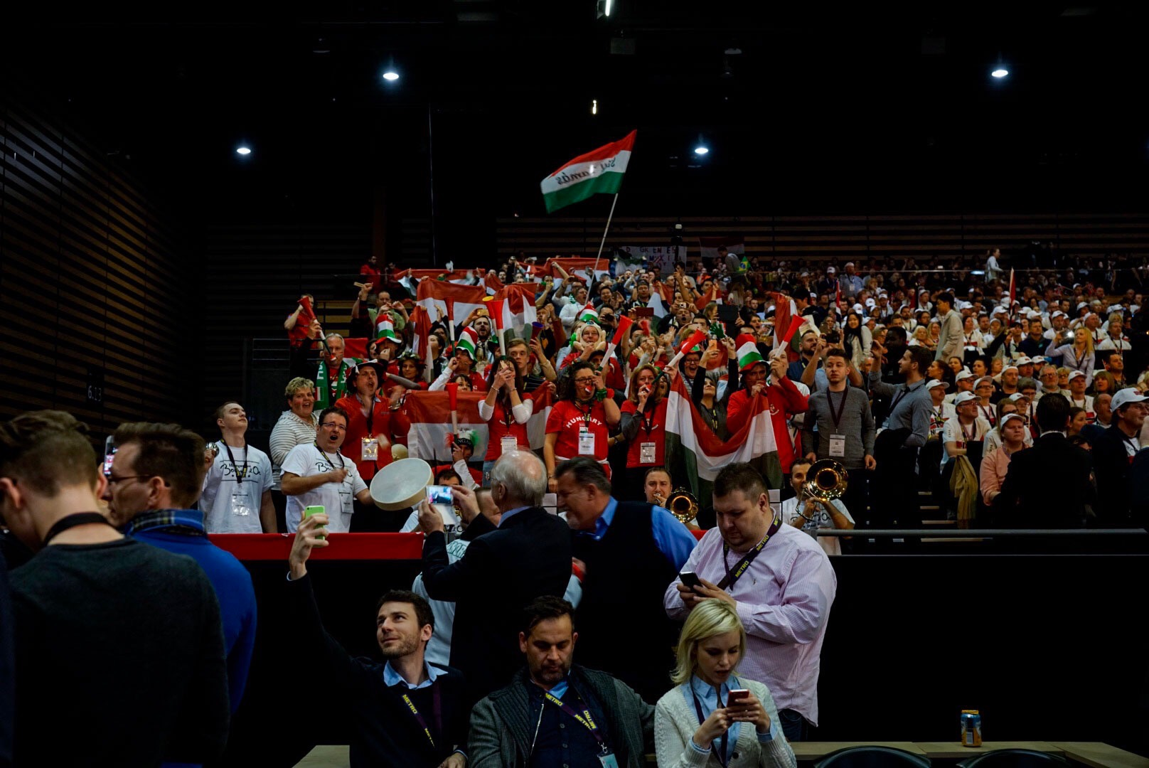 A magyar lelátó Lyonban (fotó: Valuska Gábor)